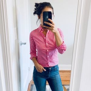 Pink Gingham Button-down